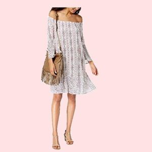 Style & Co women Printed Off-The-Shoulder Dress,